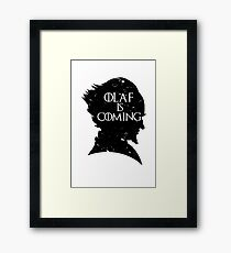 Olaf is Coming Framed Print