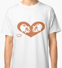 Valentine Dogs in Heart Classic T-Shirt