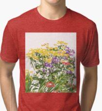 Summer Garden; Flowering Perennials Tri-blend T-Shirt