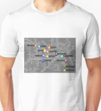 Sherlock Tube Map (Dark) Unisex T-Shirt