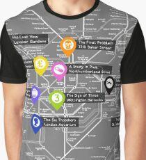 Sherlock Tube Map (Dark) Graphic T-Shirt