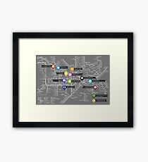 Sherlock Tube Map (Dark) Framed Print