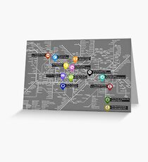 Sherlock Tube Map (Dark) Greeting Card