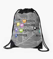Sherlock Tube Map (Dark) Drawstring Bag