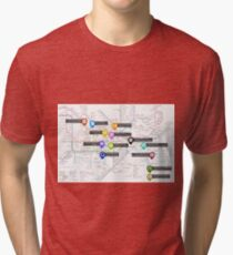Sherlock Tube Map Tri-blend T-Shirt