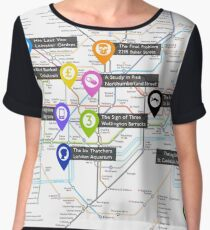 Sherlock Tube Map Chiffon Top