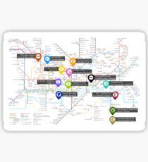 Sherlock Tube Map Sticker