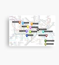 Sherlock Tube Map Canvas Print
