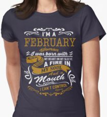 I'm an February women Womens Fitted T-Shirt