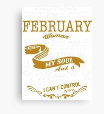 I'm an February women Canvas Print