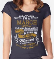 I'm a March women Women's Fitted Scoop T-Shirt