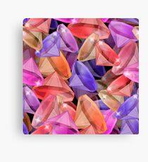 Placer precious stones gems .  Canvas Print