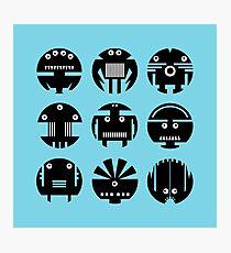 BLUE ROBOTS Photographic Print