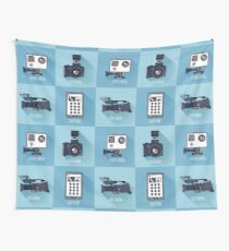 Modern Technologies. Professional Photo and Video Camera, Extreme Camera and Smart Phone.  Wall Tapestry