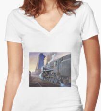 9F at Saltley shed. Women's Fitted V-Neck T-Shirt