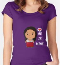 He is mine Women's Fitted Scoop T-Shirt