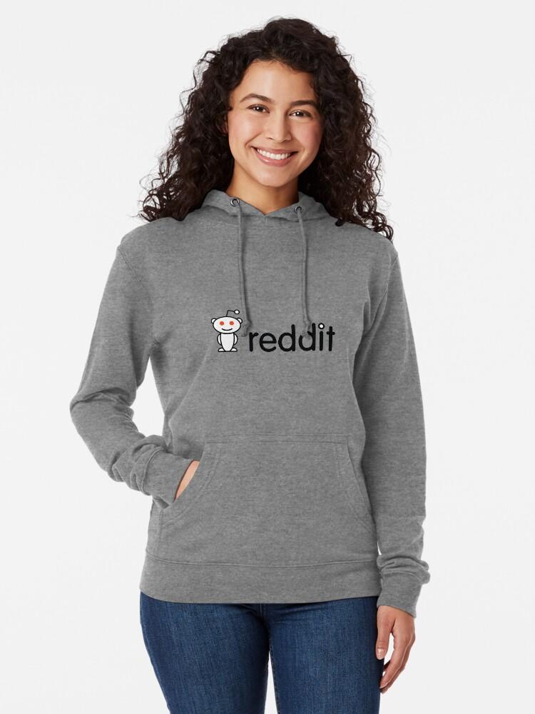 Alternate view of Reddit Logo Lightweight Hoodie