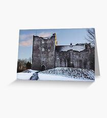 Doune Castle in Snow Greeting Card