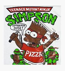 TEENAGE MUTANT NINJA SIMPSON Photographic Print