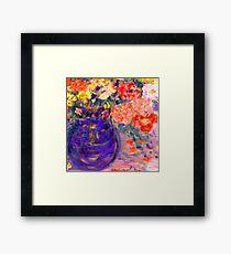 Romance II Whimsical Flowers Framed Print