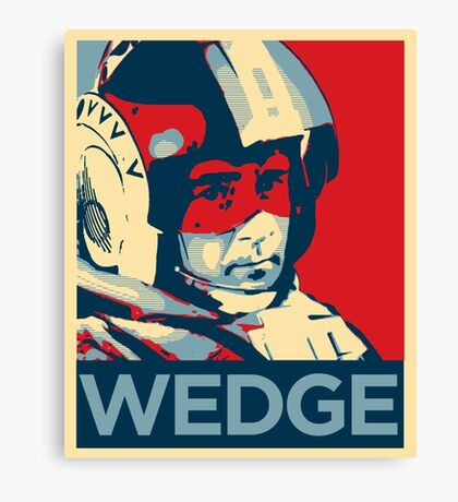 Wedge - Hero of the Rebellion : Inspired By Star Wars Canvas Print