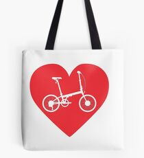LOVE Folding bike Tote Bag