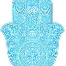 «Mano de Neon Hamsa - blues» de maryedenoa