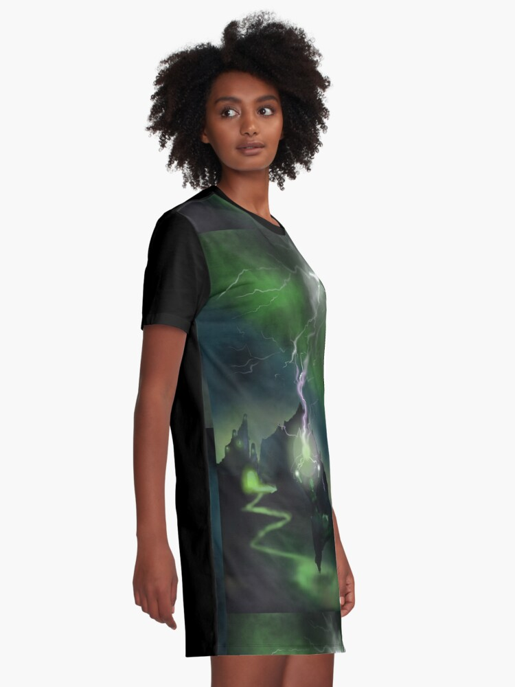 Alternate view of Fury of The Wicked Witch  Graphic T-Shirt Dress