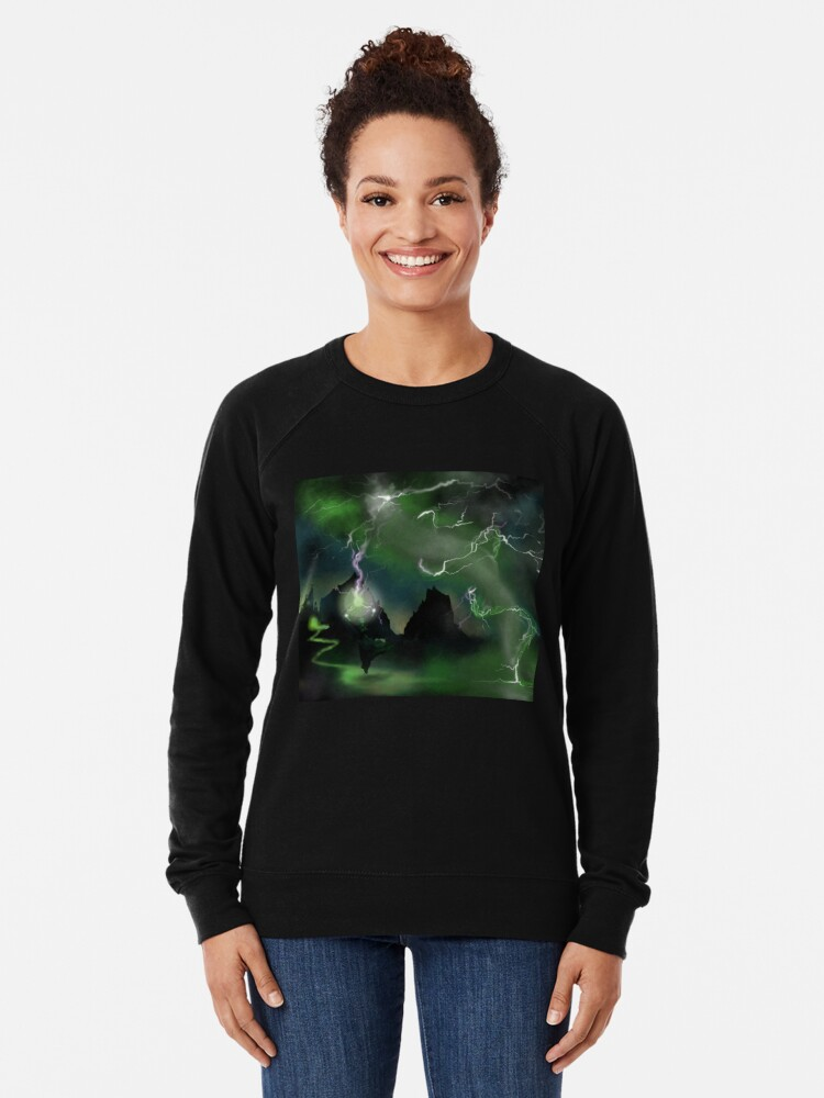 Alternate view of Fury of The Wicked Witch  Lightweight Sweatshirt
