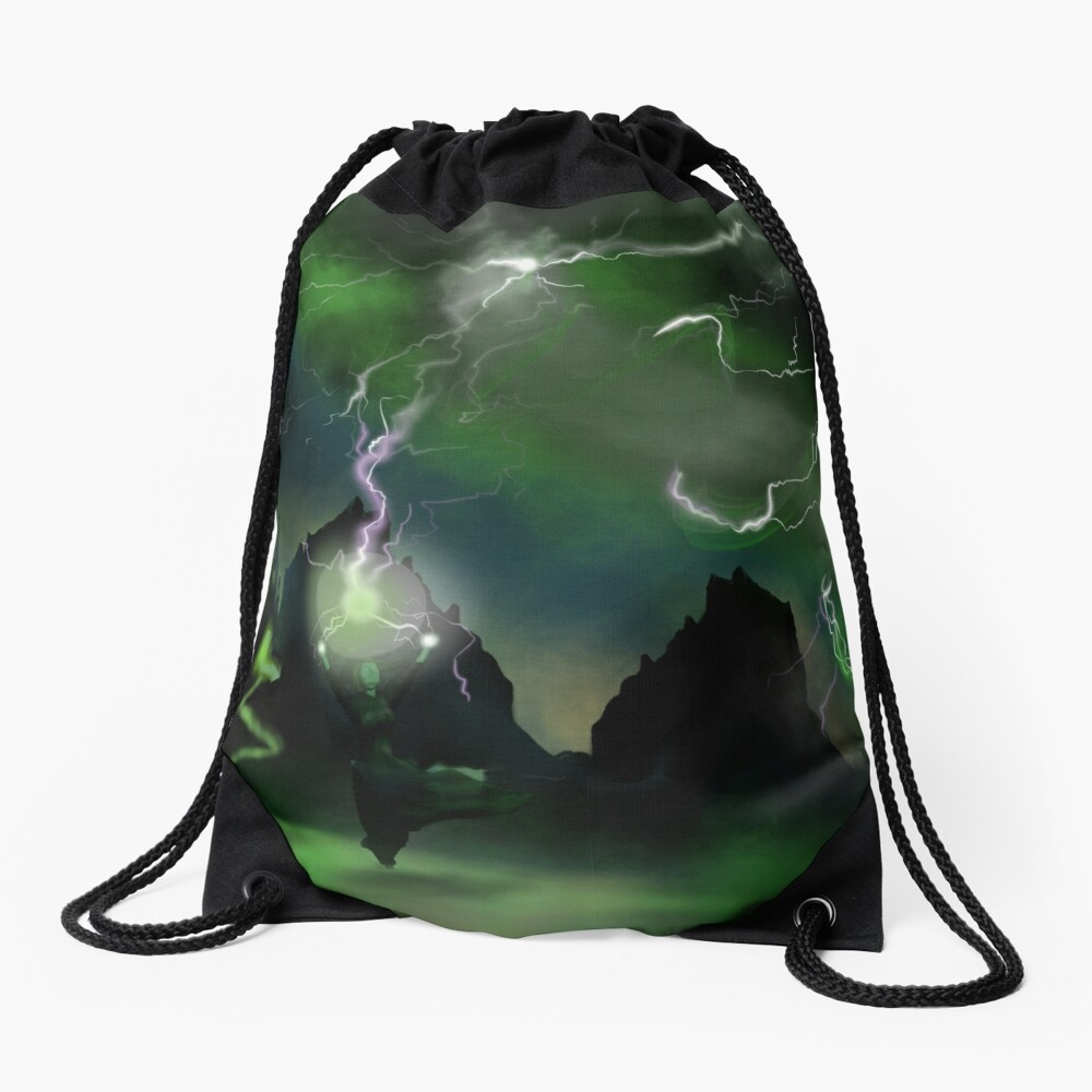 Fury of The Wicked Witch  Drawstring Bag