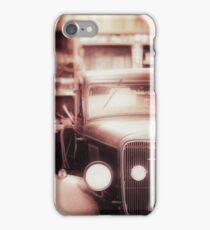Vintage Car in Garage iPhone Case/Skin