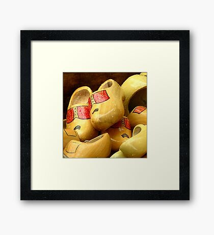 Clogs and Rain so Dutch Framed Print