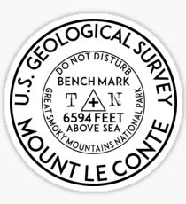 MOUNT LE CONTE TENNESSEE BENCHMARK GREAT SMOKY MOUNTAINS NATIONAL PARK LECONTE Sticker