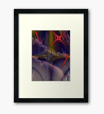 SIGNS ON THE SKY Framed Print