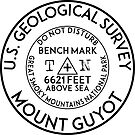MOUNT GUYOT BENCHMARK GREAT SMOKY MOUNTAINS NATIONAL PARK TENNESSEE NORTH CAROLINA GEOCACHING BENCH MARK by MyHandmadeSigns