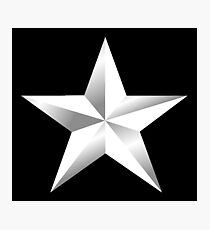 ARMY STAR, Silver Star, USA, Rank, Insignia, Officer, United States Army, Air Force, Marine Corps. Photographic Print