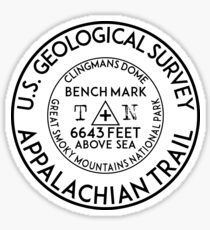 APPALACHIAN TRAIL BENCHMARK CLINGMANS DOME GREAT SMOKY MOUNTAINS NATIONAL PARK TENNESSEE GEOCACHING Sticker