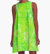 Green Paint  A-Line Dress