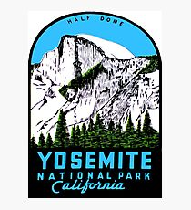 Half Dome Yosemite National Park California Vintage Travel Decal Photographic Print