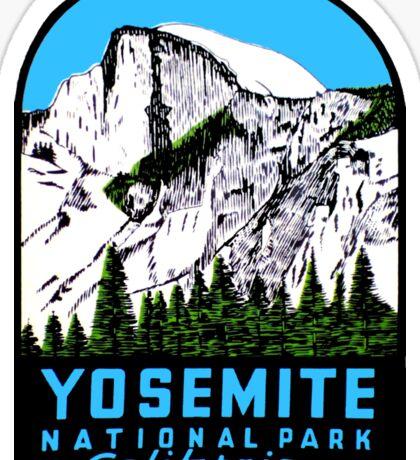 Half Dome Yosemite National Park California Vintage Travel Decal Sticker
