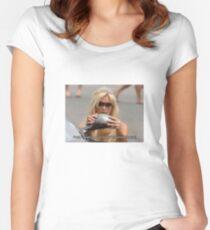 Paris Hilton - Never pass a mirror Women's Fitted Scoop T-Shirt