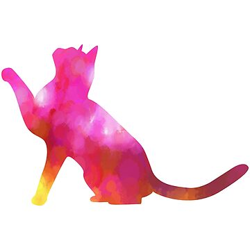 Pink Abstract Cat by LisaSBaker