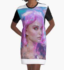 Pink hair Graphic T-Shirt Dress