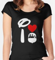 I Heart Haunted Mansion (Inverted) Women's Fitted Scoop T-Shirt