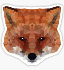 fox. polygonal graphics Sticker