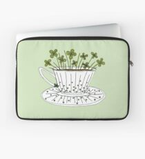 Lucky Cup of Clovers Laptop Sleeve