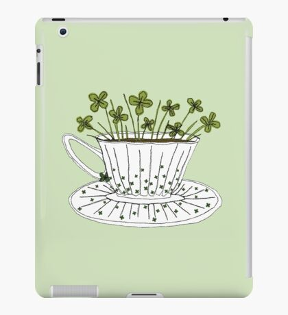 Lucky Cup of Clovers iPad Case/Skin