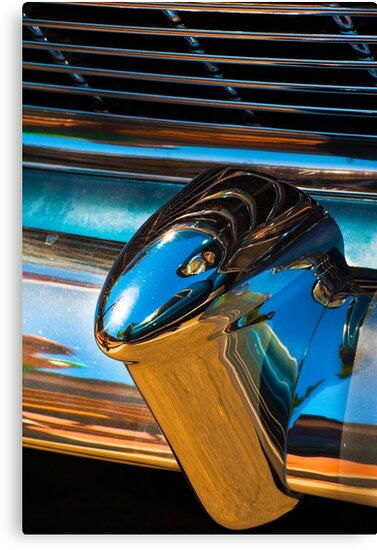 A section from a rear 1954 Chevrolet chrome bumper by Eyal Nahmias