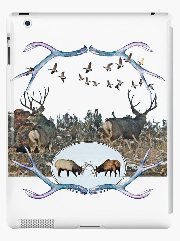 Deer elk and geese  by saltypro
