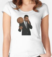 Obama Women's Fitted Scoop T-Shirt